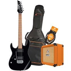 Ibanez RX22EX Left-Hand Electric Guitar Pack w/ Orange Crush 12 & Accessories (Black)