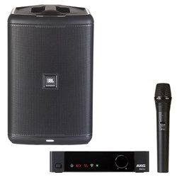 JBL EON ONE COMPACT Mono PA Pack w/ AKG DMS100 Vocal Wireless Kit