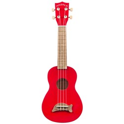 Kala Makala MK-SD/CAR Candy Apple Red Soprano Dolphin Ukulele