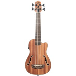Kala UBASS-JYMN-FS Journeyman Acoustic-Electric U-BASS with F-Holes inc Gig Bag