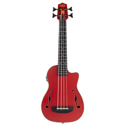 Kala UBASS-JYMN-RD-FS Red Journeyman Mahogany U-BASS inc Gig Bag