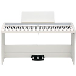 Korg B2 Digital Piano w/ Stand & Triple Pedal Unit (White)