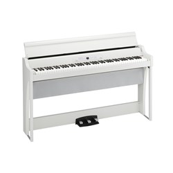 Korg G1 Air Digital Piano w/ RH3 Real Weighted Hammer Action Keyboard (White)