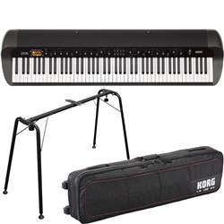 Korg SV1 88-Key Stage Vintage Piano (Black) w/ FREE Carrying Bag & Stand