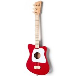 Loog LGMI Mini 3-String Kids Acoustic Guitar - 15 Frets (Red)