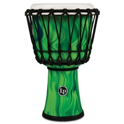 "LP 7"" Rope Tuned Circle Djembe with Perfect-Pitch Head (Green Marble)"