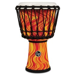 "LP 7"" Rope Tuned Circle Djembe with Perfect-Pitch Head (Orange Marble)"