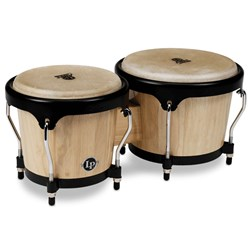 LP Aspire Series Wood Bongos (Natural Wood/Black)