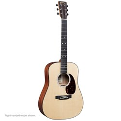 Martin DJR10EL Dreadnought Junior Left-Hand Acoustic Guitar w/ Pickup in Gig Bag