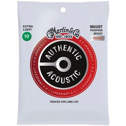 Martin MA530T Lifespan 2.0 92/8 Phosphor Bronze Extra Light Acoustic Strings 10-47