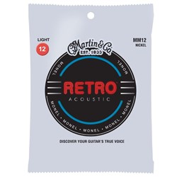 Martin MM12 Retro Light Monel Acoustic Guitar Strings 12-54