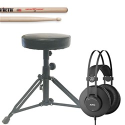 Electronic Drums Add On Pack w/ AKG K52 Headphones, Drum Stool & Vic Firth Sticks