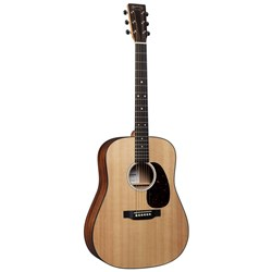 Martin D 10E Sitka Top Acoustic Guitar w/ Pickup in Soft Shell Case Satin Clear