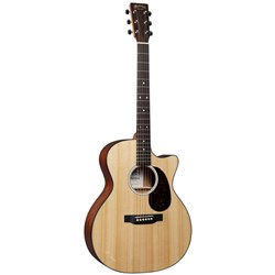 Martin GPC-11E Acoustic Guitar w/ Cutaway & Pickup in Soft Shell Case (Gloss Clear)