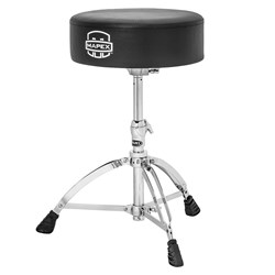 "Mapex T570A Round Top Drum Throne Double Braced w/ Thick Round Cushioned Seat (14""x4"")"
