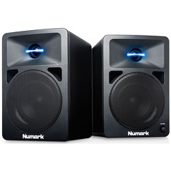 Numark N Wave 580L Desktop DJ Monitors with Pulsating Lights (Pair)