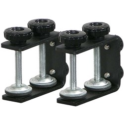Odyssey Black Table/Case L-Stand Clamps (Pair) (LSTANDCLAMPS)