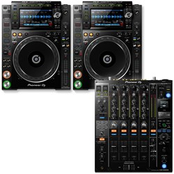 Pioneer Main Stage Pack w/ 2x CDJ2000NXS2 Media Players & 1x DJM900NXS2 Mixer