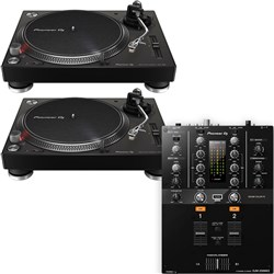 Pioneer PLX500 Turntable (Black) & DJM250MK2 Mixer Package