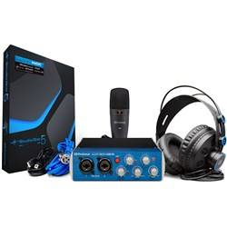 PreSonus AudioBox USB96 Studio Pack  w/ USB Audio & MIDI Interface w/ Mic, Phones & DAW