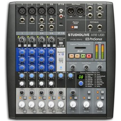 Presonus StudioLive AR8 USB 8-channel Hybrid Performance & Recording Mixer