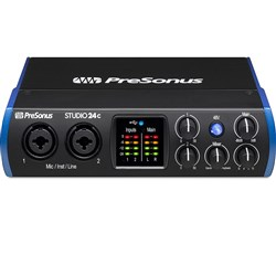 PreSonus Studio 24c 2x2 USB-C Interface w/ Studio One Artist & Ableton Live Lite