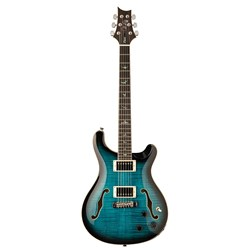 PRS SE Hollowbody II Piezo (Peacock Blue Burst) inc Hardshell Case