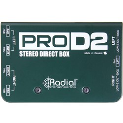 Radial ProD2 Stereo Direct Box for Keyboards w/ Eclipse ETDB2 Transformers
