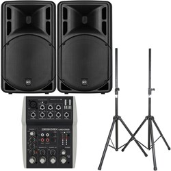 "RCF ART 312-A MK4 12"" Active Two-Way Speaker Pack w/ FREE Bags & Stands"
