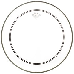 "Remo P3-1320-C2 Powerstroke 3 Clear 20"" Bass Drumhead with White 2.5"" Falam Patch"