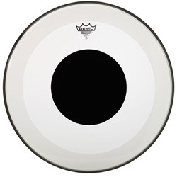 "Remo P3-1322-10 Clear Powerstroke 3 22"" Bass Drumhead with Black Dot"