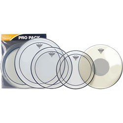 "Remo PP-0320-PS Emperor Clear Rock Pack-12""13""16""+FREE 14"" Ambassador Coated"
