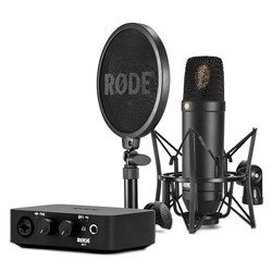 "Rode NT1 1"" Cardioid Condenser Microphone w/ AI1 Audio Interface & SMR Shock Mount"