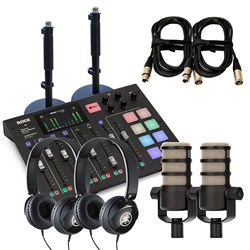 Rode RodeCaster Pro Pack 2 w/ 2x PodMic, 2x Yamaha HPH50, 2x DS1, 2x XLR Cables (3m)