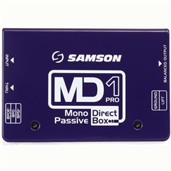 Samson MD1 Pro Mono Passive Direct Box