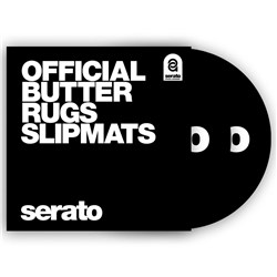 "Serato Butter Rug 12"" Slipmats (Black w/ White Logo) - Pair"