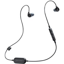 Shure SE112 Wireless Sound Isolating Earphones w/ Bluetooth (Black)