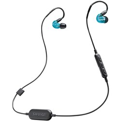 Shure SE215 Wireless Sound Isolating Earphones w/ Bluetooth (Blue)