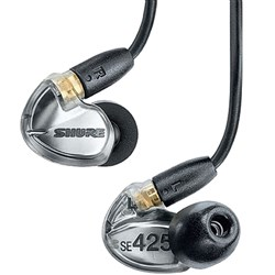 Shure SE425 Sound Isolating Earphones (Silver)