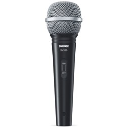 "Shure SV100 Cardioid Dynamic Vocal Mic w/ Switch & 15ft 1/4"" TS Cable"