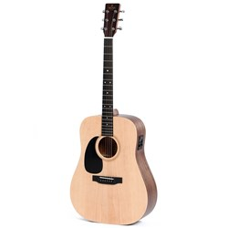Sigma DMEL Left-Hand Acoustic Guitar w/ Solid Spruce Top & Pickup