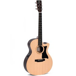 Sigma GTCE OM-14 Fret Acoustic Guitar w/ Cutaway & Pickup Solid Spruce Top (Natural)