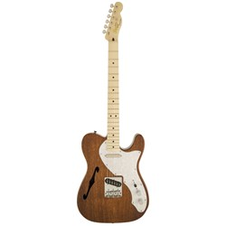 Fender Squier Classic Vibe Telecaster Thinline Electric Guitar (Natural, Maple Fretboa
