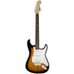 Fender Squier Bullet Stratocaster Electric Guitar with Tremolo (Brown Sunburst,