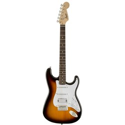 Fender Squier Bullet Fat Stratocaster HSS Electric Guitar with Tremolo (Brown Sun
