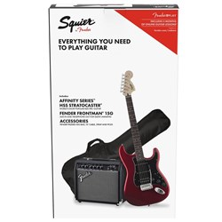 Squier Stratocaster HSS Pack Laurel Fingerboard (Candy Apple Red) w/ 15w Amp & Bag