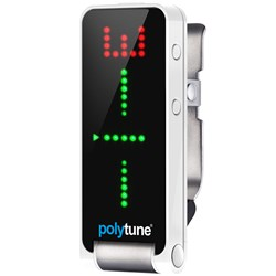TC Electronic Polytune Clip - Clip on Guitar Tuner (White)