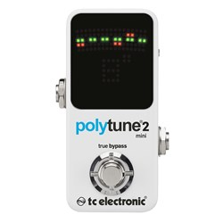 TC Electronic Polytune Mini Poly-Chromatic Guitar Tuner (White)