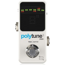 TC Electronic Polytune 3 Mini Tiny Polyphonic Tuner (White)