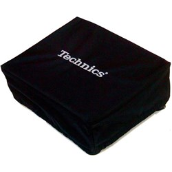 Technics Black Deck Cover w/ Silver Embroidery (Single)
